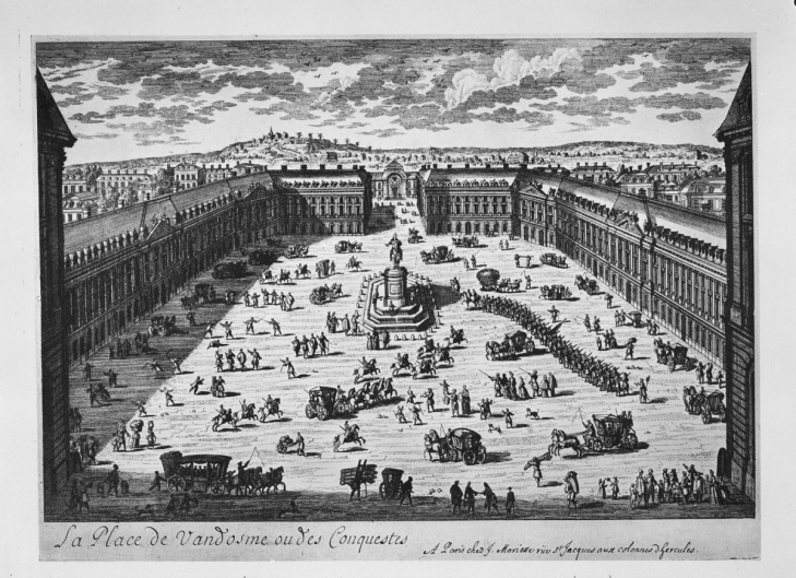 Place Vendôme with the statue of Louis XIV