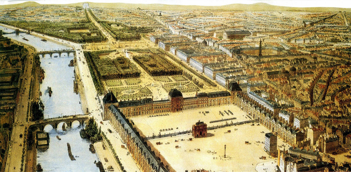 The Tuilleries Palace in 1840