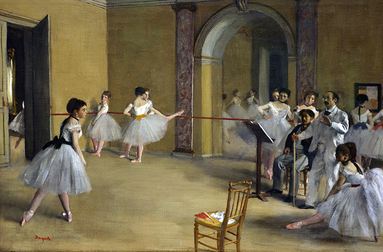 Le Foyer de la Danse (The Home of Dance) - Edgar Degas