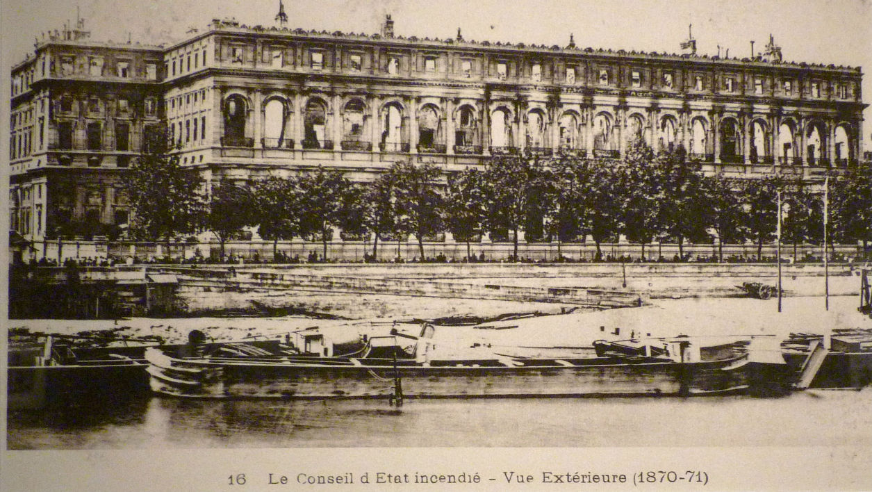 The Palais d'Orsay burned down in 1871
