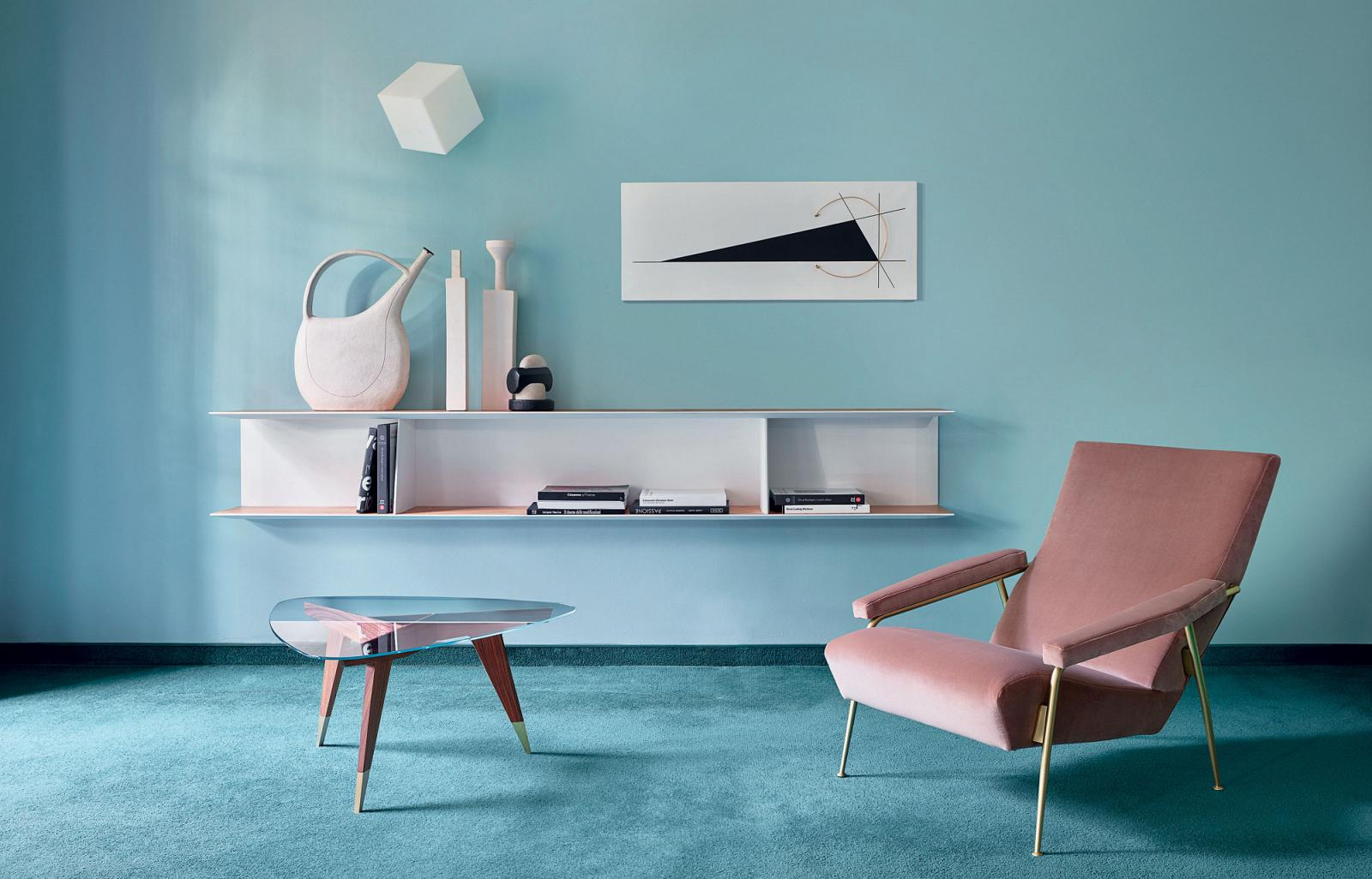 Staging of the D.655.1 buffet and the D.153.1 chair by Gio Ponti, edited by Molteni&C
