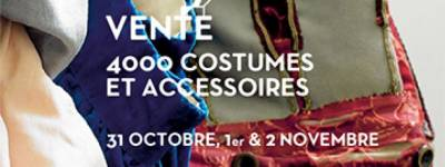 Sale of costumes at the Opéra Comique